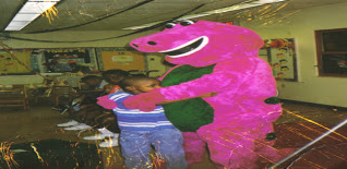 Donald with Barney